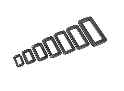 20x Ovalringe Schlaufe Schieber Gleiter für Gurtband Kunststoff Ovalring (Gurtbandbreite: 20mm)