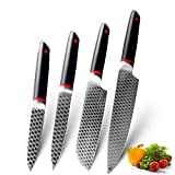 Cuchillos cocina Cuchillos de cocina 1-9PCS Cuchillos de chef 7CR17 440C Acero inoxidable de alto contenido de carbono Damasco Dibujo Dibujo Set Slicer Santoku Cuchillo (Color : Value pack 7)