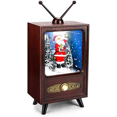 Cobeky Nueva versión de decoración retro de la nieve de la música de la fiesta de la decoración de la atmósfera de Navidad del hogar de la escena suministros