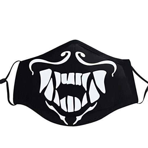 Qushy Unisex Magic Pattern Cosplay Luminous Cotton Mouth Muffle - - Einheitsgröße