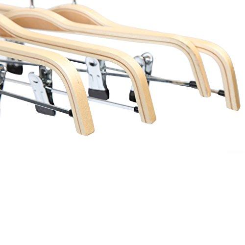 『LOHAS Home 木製ハンガー スカート・ズボン用・スラックス用 ナチュラル色 (10本組)』の6枚目の画像