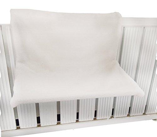 Dehner Katzen-Hängematte Homey für Heizkörper, ca. 45 x 24 x 31 cm, Plüsch, weiß