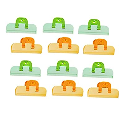 NUOBESTY Sealing Clip Practical Food Sealing Clamps Moisture-proof Food Clips 12pcs