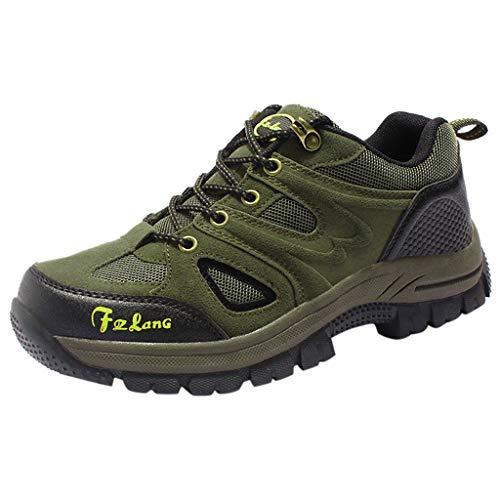 HDUFGJ Herren Trekking-& Wanderhalbschuhe Plus Samt Warm halten rutschfeste Verschleißfest Outdoor-Schuhe Schneeschuhe Freizeitschuhe Wasserdicht Laufschuhe Bequem Leichtgewicht41 EU(Armee grün)