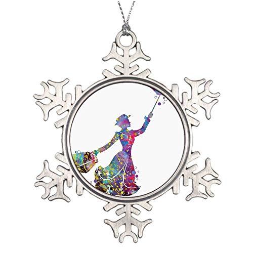 VINMEA Mary Poppins Christmas Snowflake Ornaments Ideas For Decorating Christmas Trees
