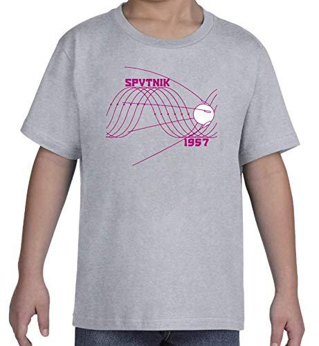 Sputnik 1957 Sin Wave Satelite Graphic Space Race Gris Kid's T-Shirt L