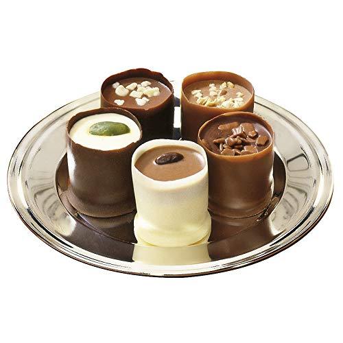 Hagen Grote Becher Pralinen, 400 g, 2x15 Stück, edles belgisches Schokoladenkonfekt, besonders zartschmelzende Füllungen in Vollmilch-, Zartbitter- und weißer Schokolade