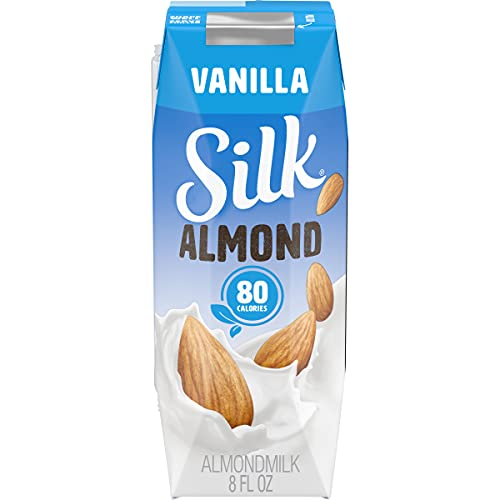 Silk Shelf-Stable Almond Milk Singles, Vanilla, Dairy-Free, Vegan, Non-GMO Project Verified, 8 oz., 6 Pack (Pack of 18)