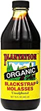 Plantation Organic Blackstrap Molasses, 15 oz Bottle (Unsulphured)
