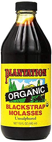 Plantation Organic Blackstrap Molasses, 15 oz Bottle (Unsulphured)