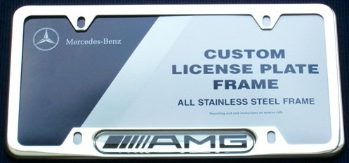 Genuine Mercedes Benz AMG Chrome License Plate Frame