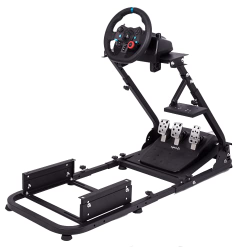 Hottoby Racing Simulator Cockpit Stand All for Fanatec/Thrustmaster/Logitech G25/G29/G920/G923 Support to PC/Xbox One/PC Gaming Simracing