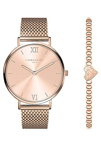 Liebeskind Berlin Damen-Uhren-Set Edelstahl One Size Rosé 32010534