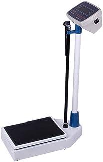 Báscula de pesaje, báscula electrónica multifunción para Peso de Altura, báscula médica Digital a Nivel de los Ojos, Pantalla LED de Cristal líquido, Sensor de Alta precisión, 150 kg / 330 LB