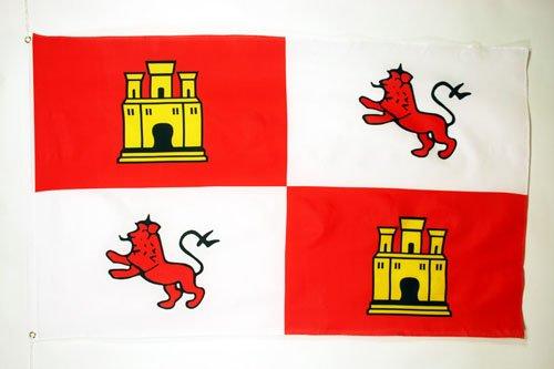 AZ FLAG Bandera de la Corona DE Castilla 150x90cm - Bandera Real ESPAÑOLA - Reino DE ESPAÑA 90 x 150 cm
