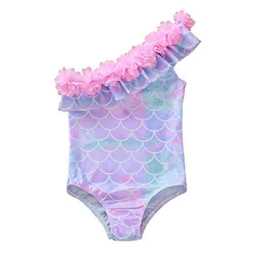Baby Beachwear Blumen Bikini Badebekleidungs Badeanzug Badeanzug