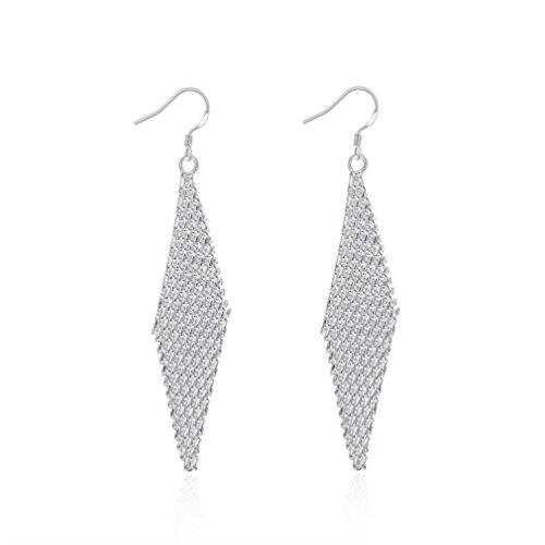 Forma de Bohemia HMILYDYK Fashion rebosadero cromado de joyería pendientes de plata y turquesas para mujer