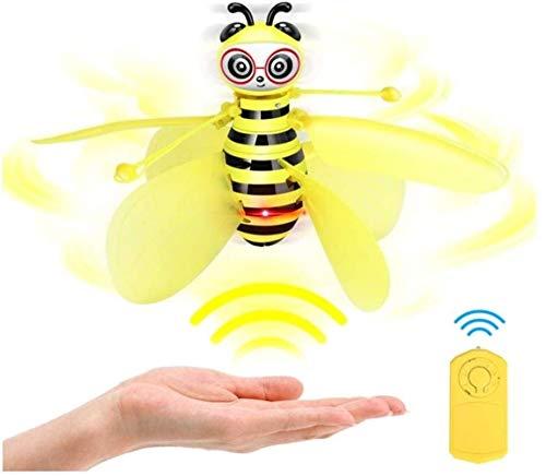 Mini Drohne - RC Fliegender Kleine Biene RC Fliegender Spielzeug Infrarot-Induktions-Fliegender Ball Mit LED Licht Touch Antikollision Control Geschenke Indoor Outdoor Für Mädchen Jungen