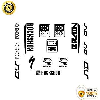 Autocollants fourche pour v/élo mod/èle Bike Rock Shox SID Specialized Brain lignes noir 29