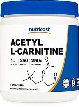 Nutricost Acetyl L-Carnitine  ALCAR  250 Grams- 1G Per Serving - 250 Servings