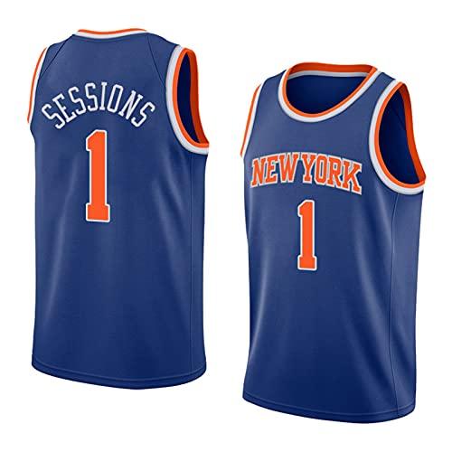 FHXY Portis Knicks # 1 New Temporada Jerseys de Baloncesto, Camisetas de Deportes al Aire Libre de Moda para jóvenes, Chalecos cómodos, Transpirables y de Secado rápido Orange-XXL