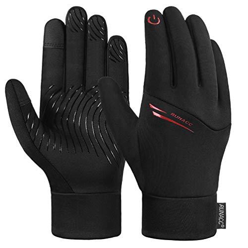 RUNACC Kinder Handschuhe Verdickte Touchscreen Winterhandschuhe Laufhandschuhe Outdoor Winter Fahrradhandschuhe Anti-Rutsch Vollfinger Sporthandschuhe für Jungen und Mädchen M