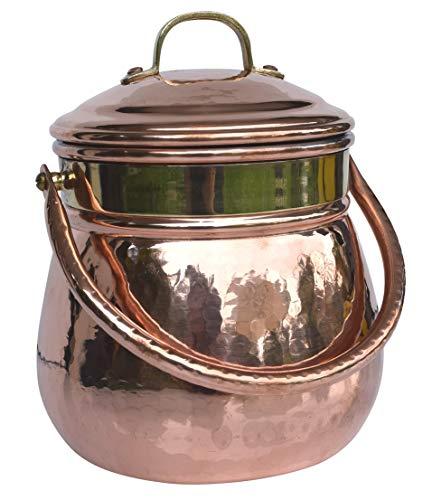 Dr. Richter Kupferkessel 2L mit Henkel und Deckel; innen verzinnt - Kupfertopf 2 Liter