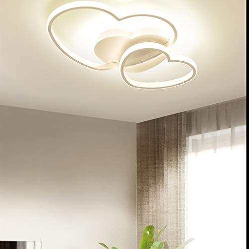 Lampada Da Soffitto A LED Dimmerabile, Design Moderno A Forma Di Cuore, Lampada Da Soffitto A Schermo in Acrilico, Lampadario in Metallo Per Sala Da Pranzo, Bagno, Plafoniere Da Cucina,Bianca