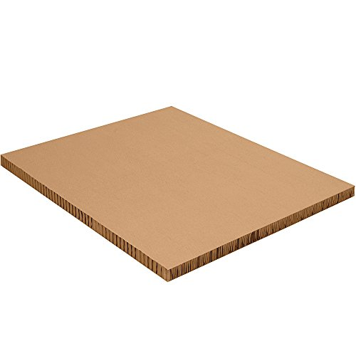 "Aviditi Compressed Paper Honeycomb Sheet, 40"" L x 48"" W x 2"" H, Kraft, Case of 20 (HC40482)"