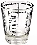 Mess-Glas, Measuring Glass, Mini Mess-Becher aus Glas, Shot-Trinkglas mit Skala 50 ml