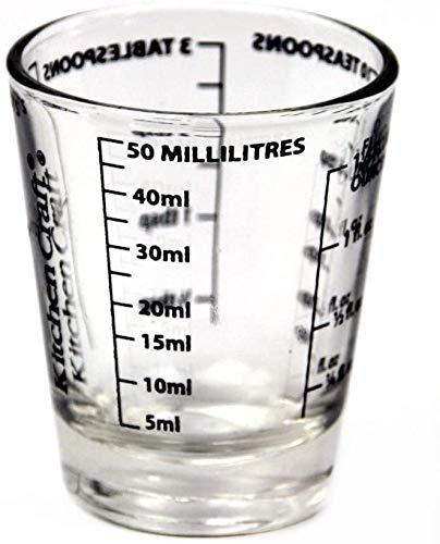 Misurino in vetro per misurazione, mini misurino in vetro, con scala da 50 ml