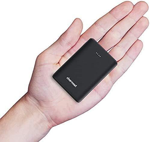 Charmast power bank mini 10400mAh,USB C caricatore portatile carica rapida 18W PD e QC 3.0 con 3 uscite e 2 ingressi, Batteria Esterna per iPhone 12/11/PRO/XS, Samsung