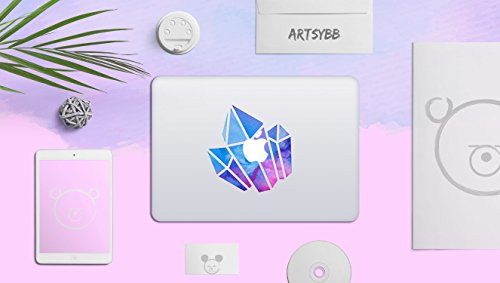 Laptop Stickers MacBook Decal - Removable Vinyl w/Glowing Apple Logo Diecut - Crystal Stickers Colorful Decals Skin for MacBook Air Pro 13 15 inch Mac Retina - Best Decorative Sticker by Artsybb