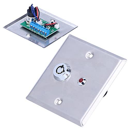 Sistema de entrada de puerta, interruptor de salida Luz indicadora de un solo color Función de señal de manipulación Material de acero inoxidable para la mayoría de las situaciones de