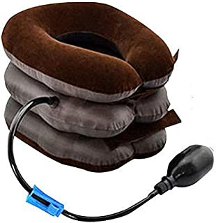 Cervical Neck Traction Device Inflatable Air Pillow for Pain Relief Adjustable Neck Stretcher Support 360 ° Traction Treat...