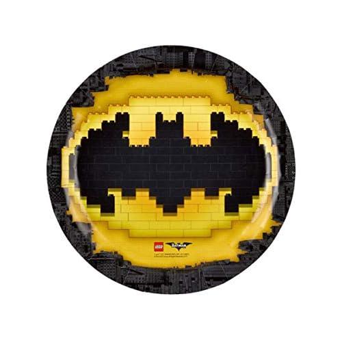 amscan 9901822 - Piatto di Carta Batman, 23 cm