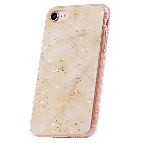 QULT Handyhülle kompatibel mit iPhone 7/8/SE 2020 Hülle Marmor lila Dreieck dünn Silikon Schutzhülle TPU Bumper Hülle für iPhone 7/8/SE 2020 Glanz Marble Violett