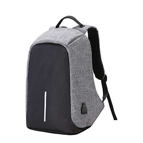 Rugzak, reis-rugzak, diefstalbeveiliging, school, hoge capaciteit, nylon, waterdicht, voor laptop, USB-oplaadtas, verlichte poort, duurzaam business.