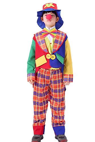 Joyplay Disfraz De Payaso para Disfraz De Circo Divertido Disfraz Trajes Coloridos De La Fiesta De Halloween Que Hacen Juegos Malabares, 120-130