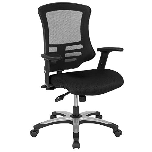 Flash Furniture High Back Black Mesh Multifunction Executive Swivel Ergonomic Office Chair with Molded Foam Seat and Adjustable Arms, BIFMA Certified