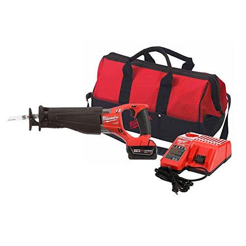 Milwaukee 2720-21 M18 Fuel 18-Volt Lithium-Ion Brushless Cordless Sawzall Reciprocating Saw Kit