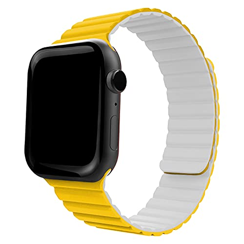 Onelanks - Correa magnética de silicona para reloj Apple (38 mm, 40 mm, correa de bucle ajustable con cierre magnético fuerte para iWatch Series 6, 5, SE, 4, 3, 2, 1