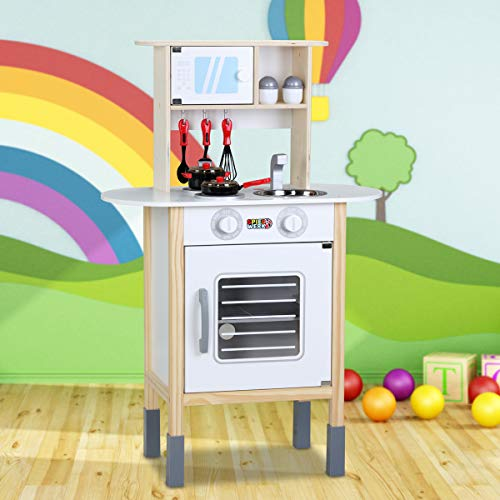 Spielzeugküche Spielküche Kinderküche Happy Kitchen 35 Teile Zubehör Holzküche Lichteffekt Kinder Spielzeug Lernspiel - 7