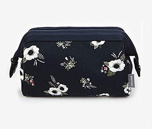 YIBING Portable Cosmetic Bag Women Waterproof Flamingo Makeup Bags Travel Organizer Toiletry Kits, Black