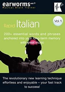 Earworms Rapid Italian Vol. 1: 200+ Essential Words and Phrases Anchored into Your Long Term Memory with Great Music (Musical Brain Trainer) of Lodge, Marlon on 15 July 2005