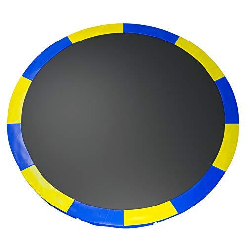 Fast-Jump - Cuscino di protezione delle molle per trampolino, 366 cm, bicolore, blu/giallo
