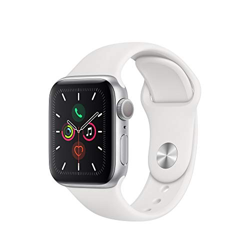Apple Watch Series 5 (GPS, 40 mm) Aluminiumgehäuse Silber - Sportarmband Weiß