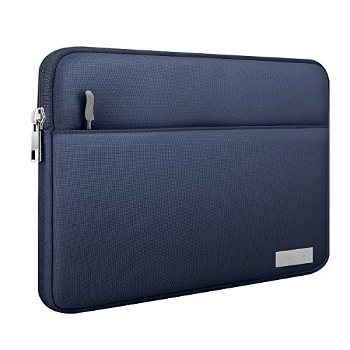 MoKo Sleeve Kompatibel mit 9-11 Inch Tasche, Schutzhülle mit Reißverschluss & 2 Tasche Tablet Hülle aus Polyesterfaser Ersatz für iPad Air 3 10.5