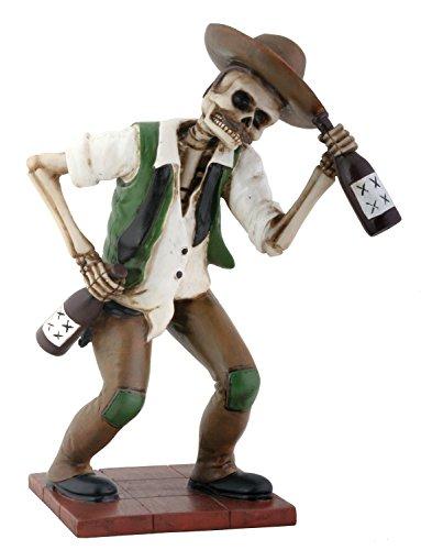 YTC El Borracho Green Skeleton Holding Liqour Bottle