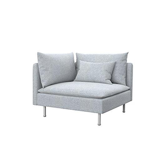 Soferia Funda de Repuesto para IKEA SÖDERHAMN módulo de Esquina, Tela Naturel Light Grey, Gris